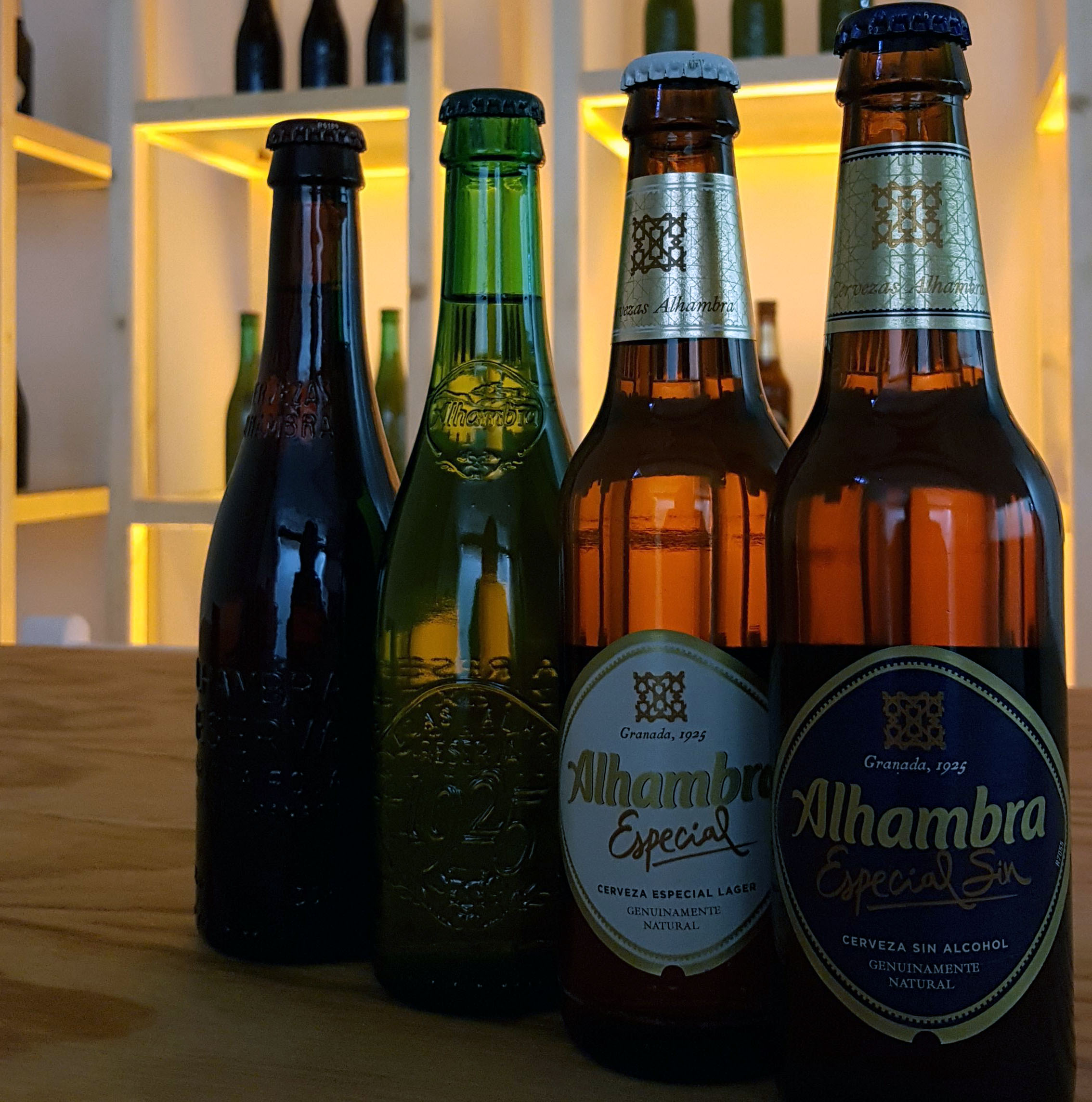 cervezas alhambra alacena roja