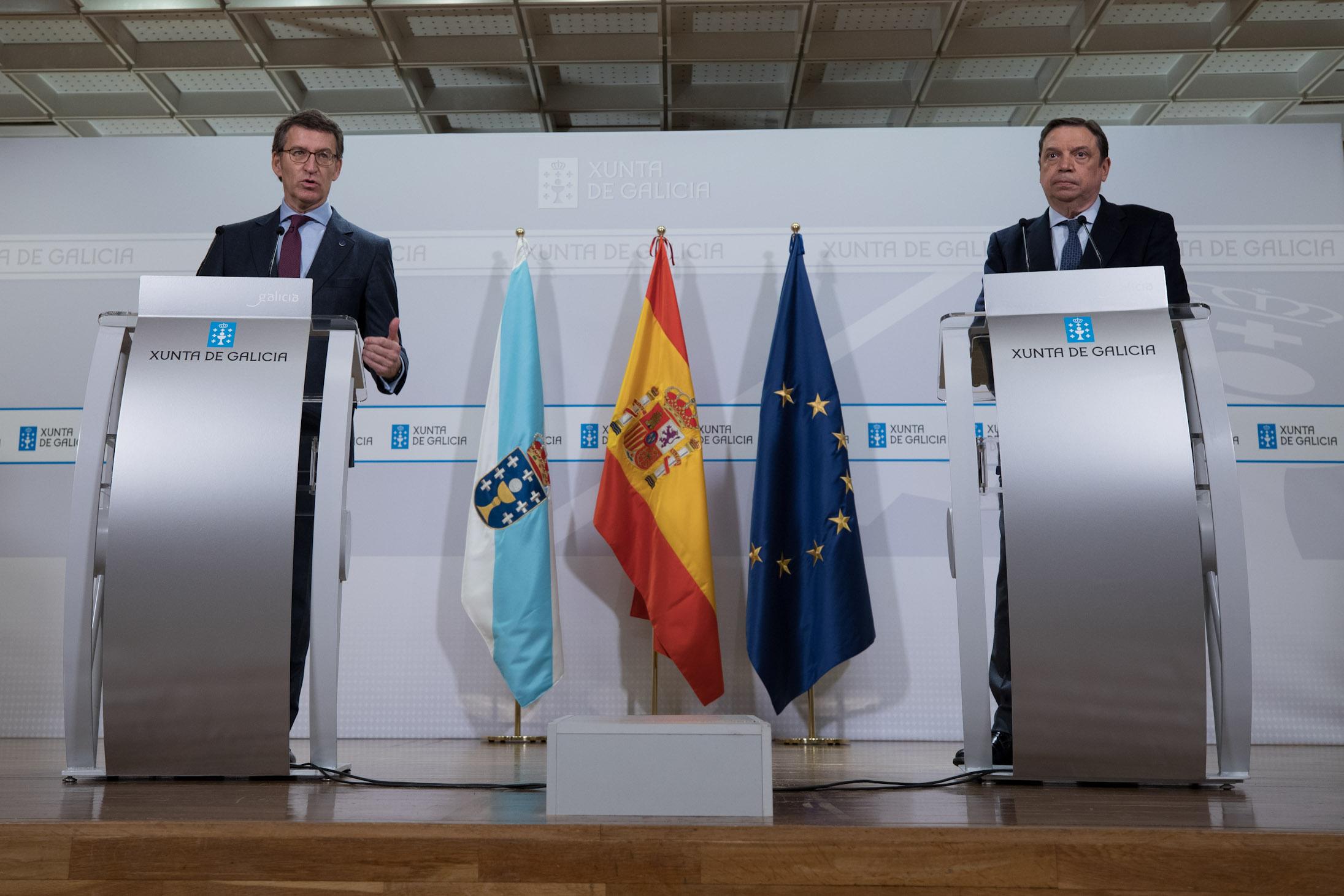 Planas traslada la voluntad del Gobierno de cooperar con Galicia en materia de agricultura, pesca y medio rural