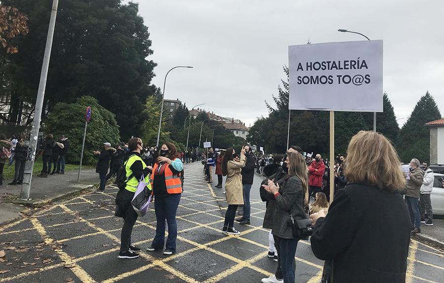 La hostelería de Compostela valora volver a movilizarse ante las nuevas restricciones por la covid-19