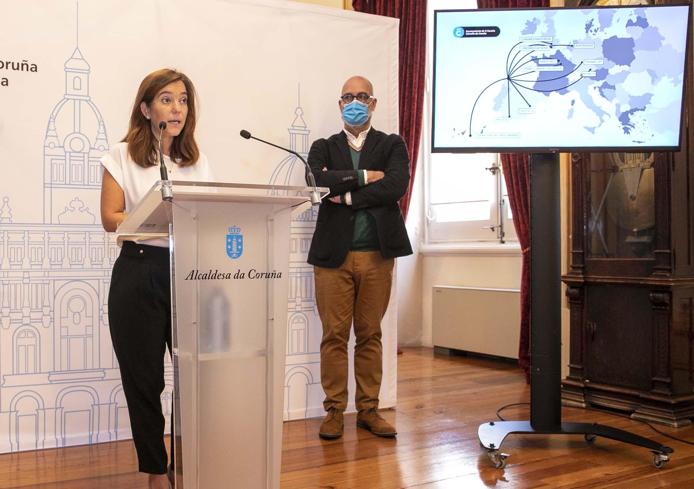 El Concello de A Coruña sacará a concurso ocho rutas aéreas desde Alvedro